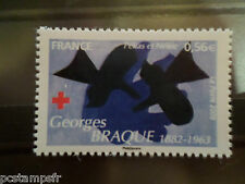 FRANCE 2009, timbre 4388, CROIX ROUGE TABLEAU BRAQUE neuf** MNH STAMP RED CROSS