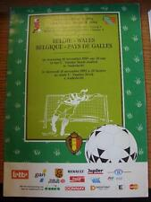 18/11/1992 Belgium v Wales [At Anderlecht] .  Any faults with this item will hav