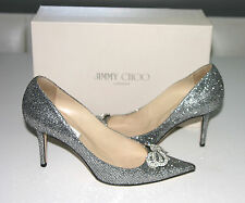 Authentic Jimmy Choo Stilleto Glitter Pumps Size 39 -$795.00--WORN ONCE