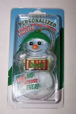 DAVID Personalized Solar Powered Snowman Ornament/Gift Tag NameStar NEW