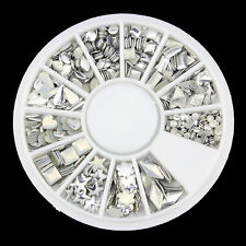 Blueness 1 Wheel 3D Nail Art Acrylic Mixed Silver Charms Decoration Manicure