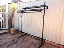 Iron Clothing Rack Two Display Shelves Free Stand Home Fashion Shop DRS018-BLK
