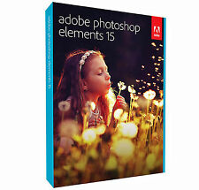 NEW ADOBE PHOTOSHOP ELEMENTS 15 SOFTWARE PC & MAC FULL RETAIL BOXED - SEALED DVD