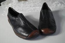 REMONTE Lofters Damen Schuhe Sneaker Slipper Leder schwarz Einlagen bequem Gr.39