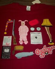 A CHRISTMAS STORY T-Shirt XL NEW PINK BUNNY SUIT RALPHIE LEG LAMP RED RIDER