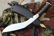 "Hand Forged Blade Bushcraft Kukri Knife, 11"" Gurkha II WW Gripper Handle Khukuri"