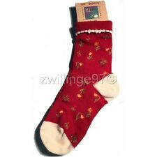 NWT GYMBOREE AUTUMN BERRIES RED DITSY FLORAL SOCKS XL/XXL 5 to 7 yrs  VINTAGE