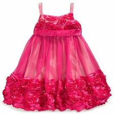 NWT Bonnie Jean Pink Tulle & Satin Rosette Dress Size 16 - Great for Xmas