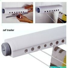 Wall Mounted Indoor Washing Clothes Laundry 4 line Airer Dryer Retractable