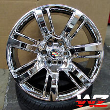 "22"" CA88 Style Platinum Chrome Wheels Fits Cadillac Escalade EXT ESV Chevy GMC"