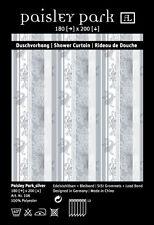 "Designer Textil Duschvorhang ""Paisley Park-silver""   TOP!"