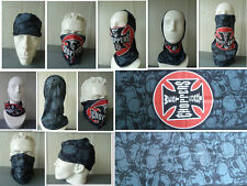 'IRON CROSS' Head/Face/Mask/Neck Multi-wear tube Bandana/Durag. SPF5 Scarf/Wrap.