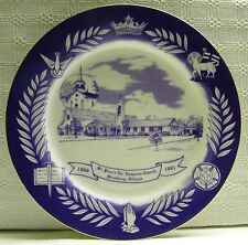 St. Paul's Ev. Lutheran Church Plate Strasburg Illinois 1991 Vintage 125 Years