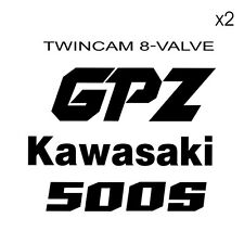 Kit 8 Stickers GPZ 500 Kawa
