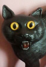 "17-1/2"" Black Cat Blow Mold Union Products Don Featherstone Halloween Vintage"