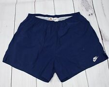Men's Vintage Nike Navy Blue Beach Swimming Running Shorts Polyester Size XL
