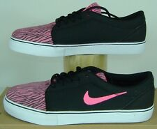 New Womens 5 NIKE Satire PRM Pink Black Textile Vegan Zebra Shoes $68