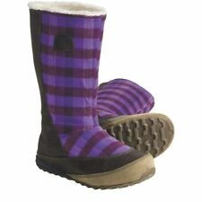 NEW Womens Sorel MacKenzie Slip Holiday Tall Fleece-Lined Royal Purple Boots 6