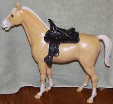 1 Miniature Black Tooled Toy Leather Western Horse Saddle Breyer / Marx~ SB2