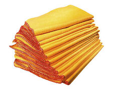 10 x Yellow Dusters Heavy Duty Traditional Durable Home Office Cleaning Cloths