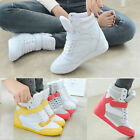 CH Women Lace Up Athletic Velcro Sneakers Casual Shoes Wedge Heel High Top Boots