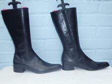 Nouveau sexy noir ~ ~ pied a terre tout en cuir bottes, chers taille 6,5 39,5, cadeau