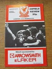 20/02/1979 Liverpool v Norwich City  (Score Noted)