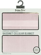 New Bubba Blue Bassinet Size Cellular Blanket 100% Cotton Pink
