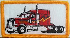 RED TRUCK   Iron On Patch  Emblem Gold Merrow Border