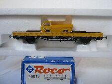 Roco HO/DC 46813 Rungenwagen + VW Pritsche H.F. Wiebe (RG/CN/71-22R3/3)