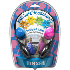 Maxell Kids Safe Headphones Pink and Blue Endcaps Included in Factory Packaging