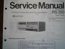 TECHNICS RS-350 RS-3 Cassette tape Deck Service manual wiring parts diagram M24