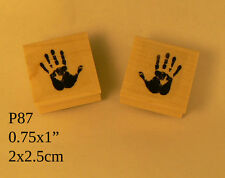 P87 Hand prints rubber stamp WM