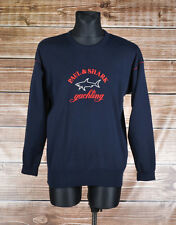 Paul & Shark Crew Neck Yachting Men Sweater Size L, Genuine