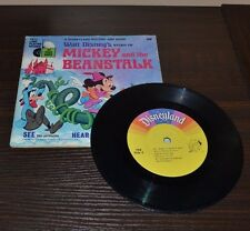 Disneyland 33 Record And Book Mickey And The Beanstalk Vintage Condition 1970