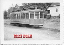 6H520 RP 1941 CINCINNATI NEWPORT & COVINGTON RAILWAY CAR #121 AT BARN