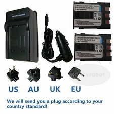 2X Battery+charger for CANON PC1018 NB-2JH E160814 NB-2LH EOS Rebel XT Xti SLR