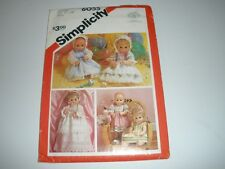 "Simplicity 6055  DOLL CLOTHES SEW PATTERN Fits 13""-14"" Doll  UC"