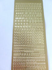 Gold peel offs-alphabet & numéros-old english script - 129