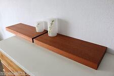 2x Wandboard Mahagoni Massiv Holz Board Regal Steckboard Regalbrett NEU auf Maß