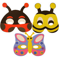 3x Foam Insect Masks - Pinata Toy Loot/Party Bag Fillers Wedding/Kidz Birthday