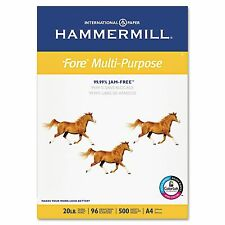"Hammermill Fore Multipurpose Paper 20lb, 96 Bright (A4) 8-3/8 x 11-3/4"" – Ream"