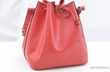 Authentic Louis Vuitton Epi Petit Noe Red Shoulder Bag LV 28537