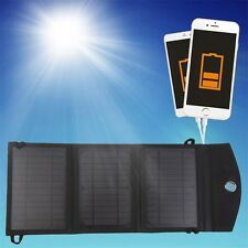 10W 3-Foldable Dual USB Solar Panel Battery Charger for Laptop PC Phone F7