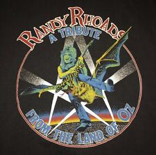 Vintage Randy Rhoads Shirt Original 80s Ozzy Metal Rock Band Tour Concert
