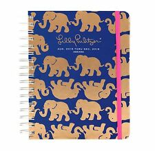 2015-2016 Lilly Pulitzer TUSK IN SUN Large LG Agenda Elephant DATEBOOK PLANNER