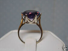 10ct purple raspberry alexandrite 925 sterling silver ring size 5 USA made