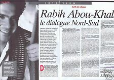 Coupure de presse Clipping 1996 Rabih Abou-Khalil   (2 pages)