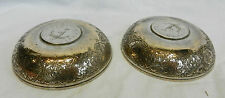 Pair of Antique Persian Silver Bowls Set with 10 Rial Silver Coins - 1905 / 1323