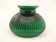 "Green Cased Glass Shade by Vianne 7"" fitter ribbed shade"